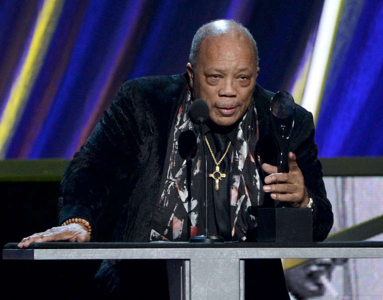Quincy Jones was honoured with the Order of Arts and Letters, one of France's top cultural honours yesterday. ― AFP pic