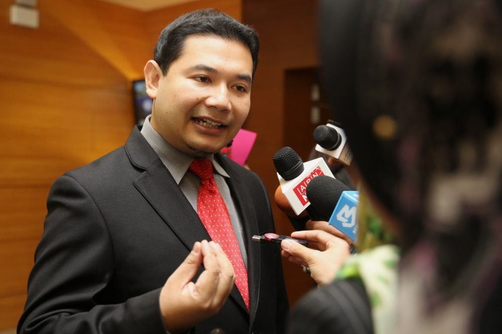 PKR secretary-general Rafizi Ramli said with the scrapping of petrol and diesel subsidies, all of the oil and gas revenue would be monopolised by Barisan Nasional. — Picture by Choo Choy May