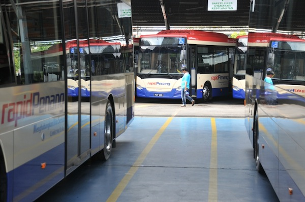 The island state currently only has Rapid Penang buses as its main public transport system. — Picture by K.E. Ooi