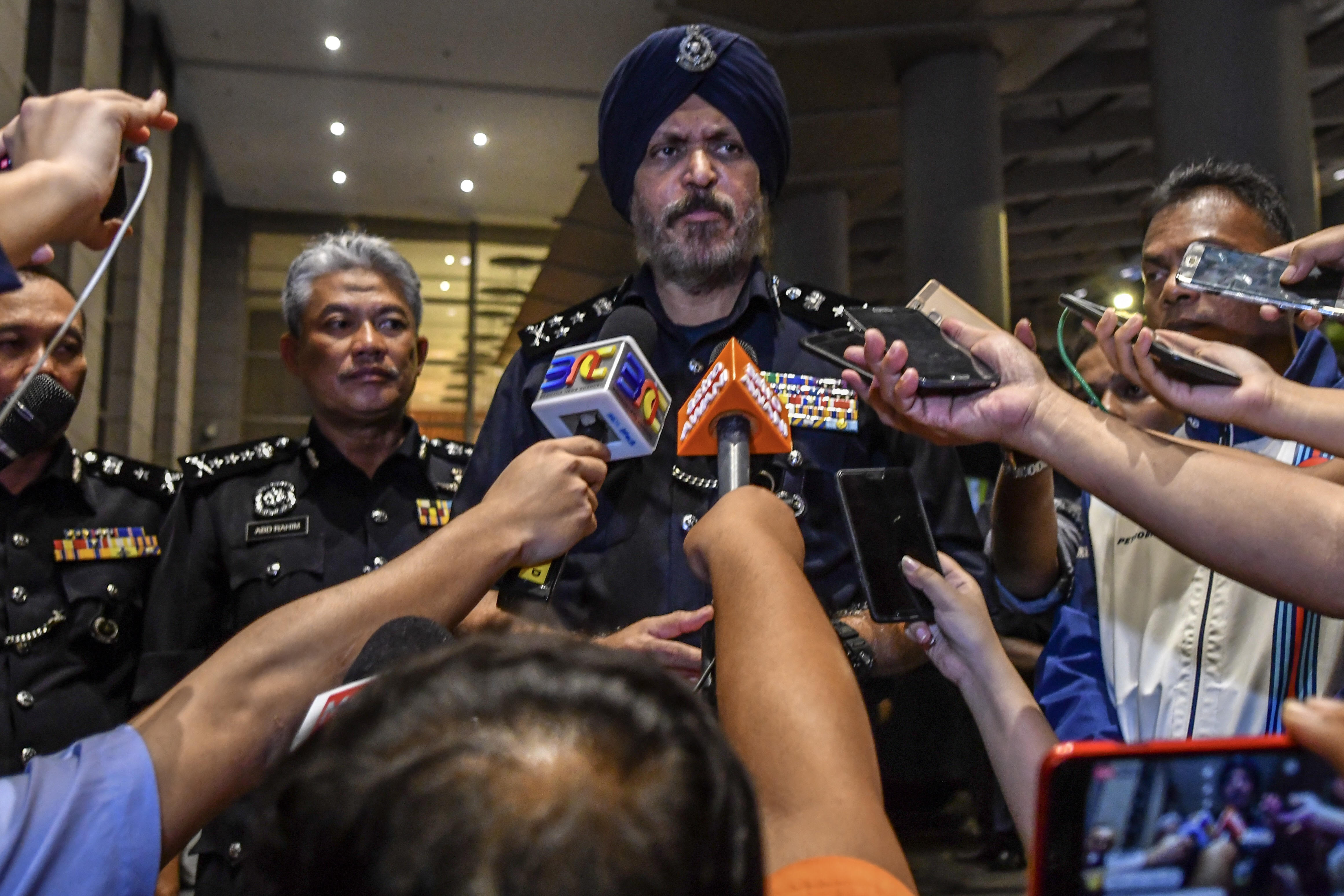 Amar speaks to reporters outside the Pavilion Residences in Kuala Lumpur May 18, 2018. — Picture by Hari Anggara