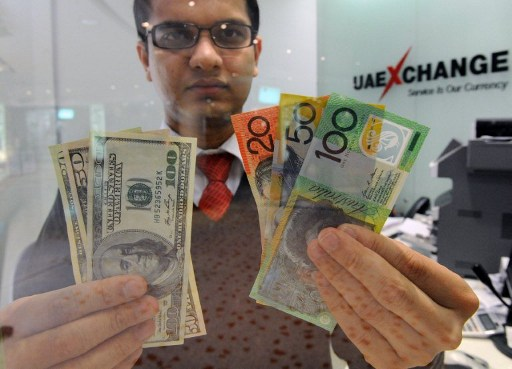 The Australian dollar shined yet again, rising to US$0.7828 after stronger-than-expected economic growth in the fourth quarter fuelled hopes for a V-shaped recovery from the coronavirus pandemic. — AFP pic