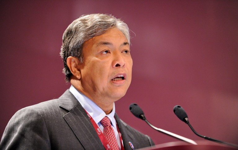 File photograph shows Home Minister Datuk Seri Ahmad Zahid Hamidi. A proposal by the Home Ministry to define Islam as 'Sunni' has been criticised by civil liberties lawyer Syahredzan Johan who said such a move if approved by Parliament would wipe out the entire Malay-Muslim legal identity of non-Sunni Muslims. — AFP pic
